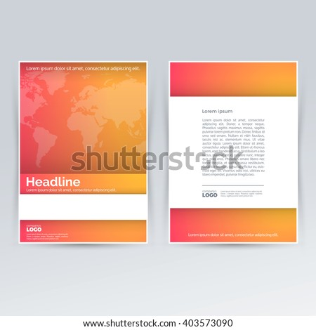 Brochure Design Template Advertising Creative Leaflet Stock Vector ...