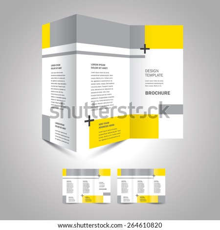 brochure design template geometric abstract - stock vector