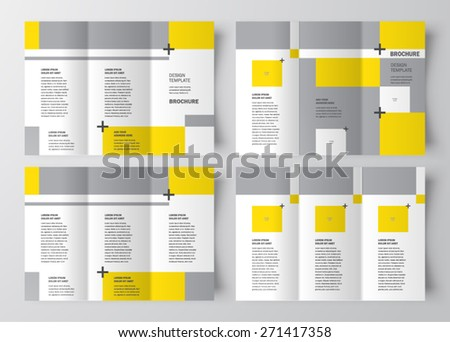 brochure design template geometric abstract set