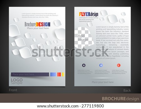Brochure design template. Proportionally for A4 size