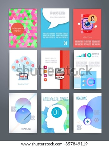 Brochure Design Template Set Templates Design Stock Vector - Brochures design templates