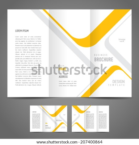 brochure design template stripes - stock vector