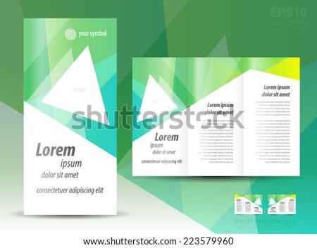 brochure design template triangle - stock vector