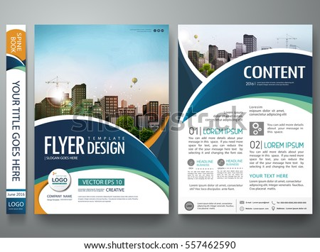 Brochure layout design stock images royalty free images vectors brochure design template vector abstract circle cover book blue portfolio minimal presentation poster city pronofoot35fo Images