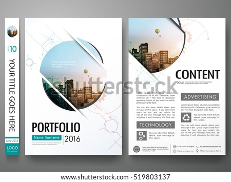 Brochure design template vector.Abstract circle cover book portfolio minimal presentation poster.City design on A4 brochure layout. Flyers report business magazine poster layout portfolio template.