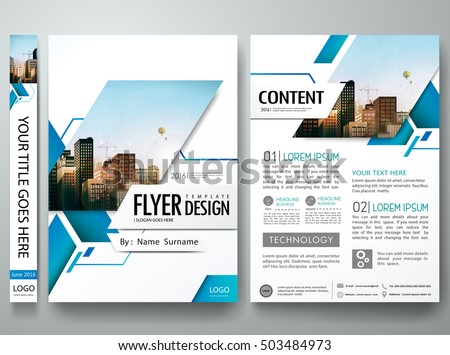 Brochure design template vector.Blue abstract square cover book portfolio presentation poster.City design on A4 brochure layout. Flyers report business magazine poster layout portfolio template.