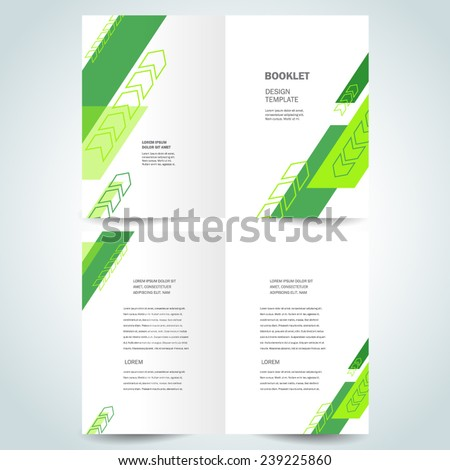 brochure design template vector booklet arrows geometric abstract stripes - stock vector