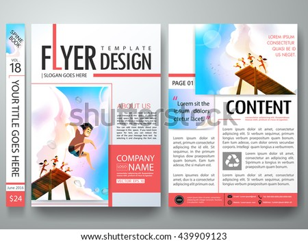 Brochure design template vector business flyers stock vector brochure design template vector business flyers report magazine poster cover book portfolio summer sea wajeb Gallery