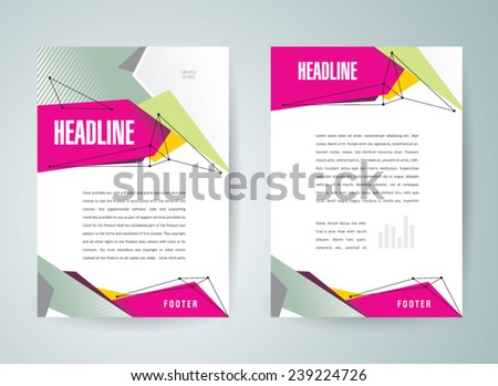 Brochure Design Template Vector Flyer Polygonal Stock Vector Hd