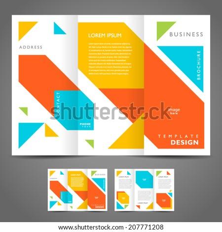 brochure design template vector - geometric abstract figure  - stock vector