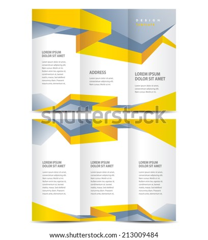 brochure design template vector geometric abstract stripes - stock vector