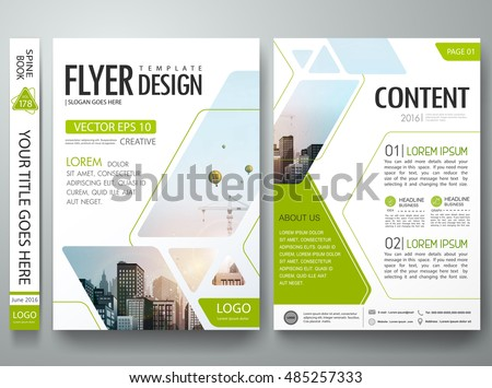 Brochure design template vector.Green Abstract square cover book portfolio presentation poster.City design on A4 brochure layout. Flyers report business magazine poster layout portfolio template.