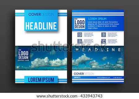 Brochure design  template vector . Magazine front and back page, material style poster and banner. Cover scheme. Business leaflet layout.