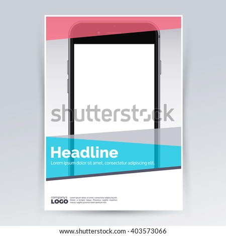 Brochure Design Template Smartphone Advertising Creative Stock ...
