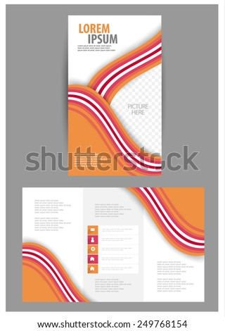 brochure design. vector
