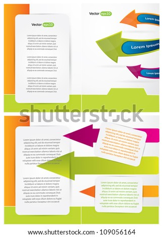 Brochure design with colorful arrows, place for your text and fun composition - stock vector