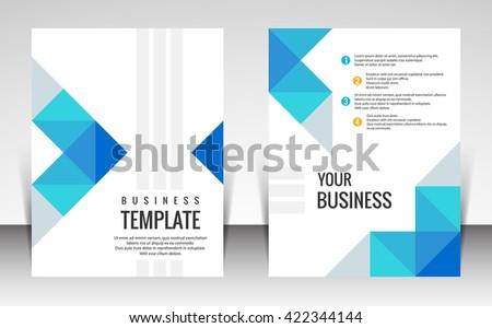 Brochure flyer design template vector - stock vector