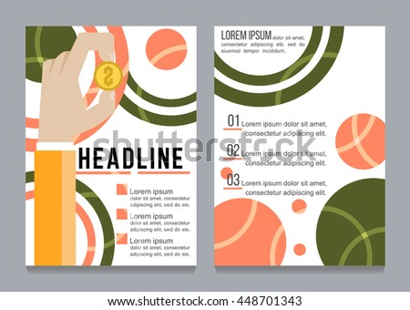 Brochure flyer design template vector, Leaflet cover presentation abstract flat background, layout in A4 size