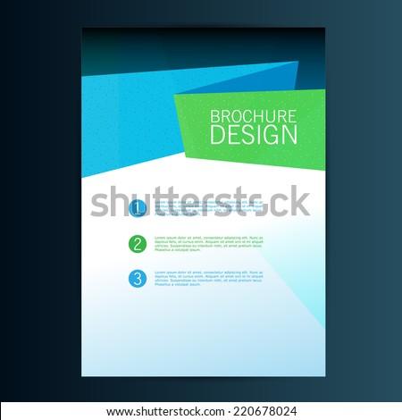 Brochure Flyer design vector template. Eps 10 - stock vector
