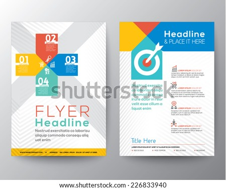 Brochure Flyer graphic design Layout vector template in A4 size - stock vector