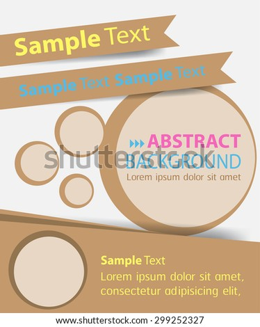brochure, flyer, magazine cover. brown white template. Card Business Set. Folder Design Template. banner. label. Leaflet Abstract Technology background for computer graphic website internet. text box.