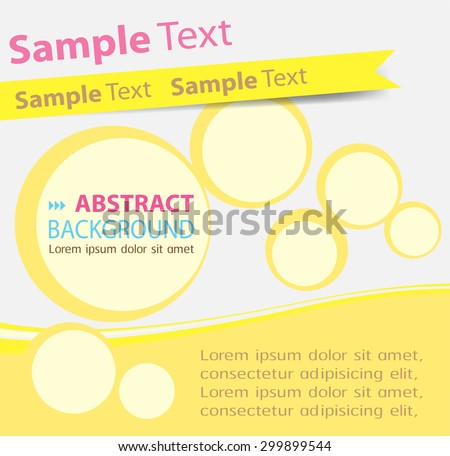 brochure, flyer, magazine cover.yellow white template. Card Business Set. Folder Design Template. banner. label. Leaflet Abstract Technology background for computer graphic website internet. text box. - stock vector
