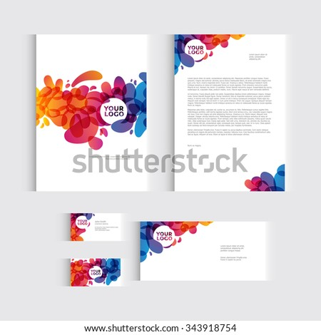 Brochure, flyer or report for vector business template. Vector illustration - stock vector