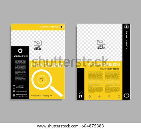 brochure flyer template a 4 size designのベクター画像素材 604875383