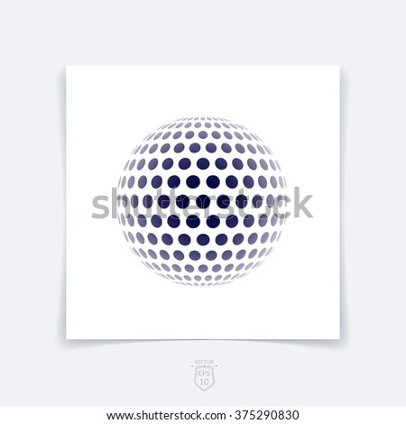 Brochure, flyer with 3D sphere of geometric round shapes on white background. Vector illustration. - stock vector