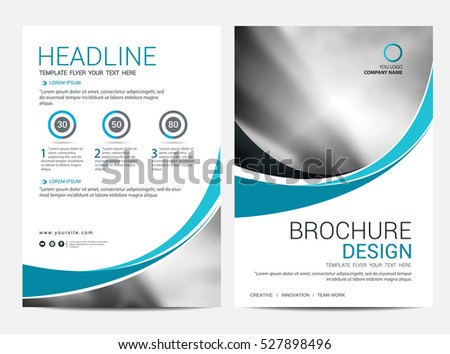 Brochure Layout Design Template Annual Report Stock Vector 527898496