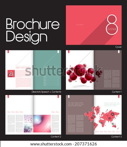Brochure Layout Design Template 10 Pages Stock Vector 207371626 ...