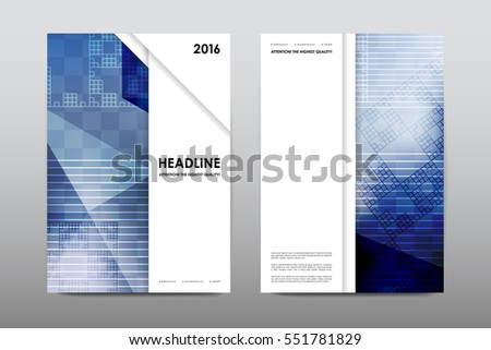 Brochure Layout Template Flyer Design Vector Stock Vector 551781829