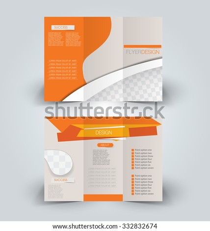 Brochure Design Template Advertising Creative Leaflet Stock Vector