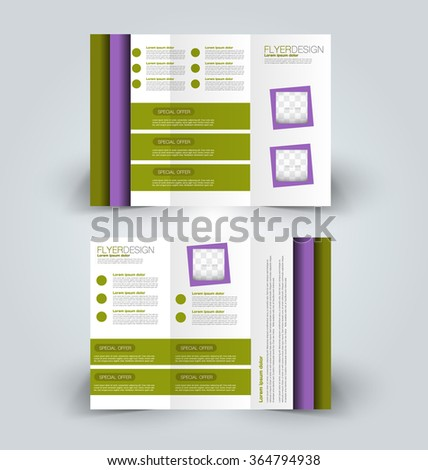 Vector Tri Fold Brochure Template Design Stock Vector 258579056