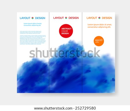 brochure modern design templates, easy editable  - stock vector