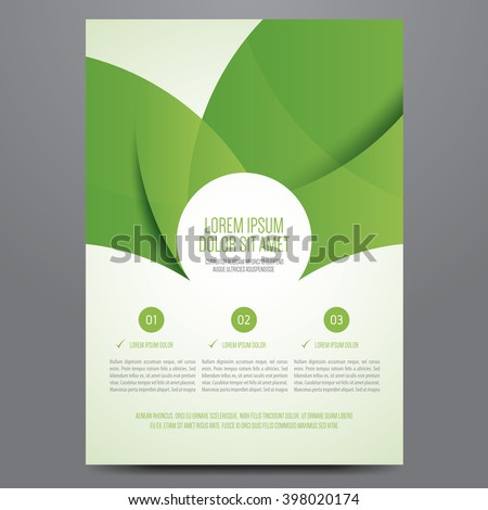 Brochure, poster, annual report, magazine cover, flyer vector template. Modern green corporate design. - stock vector