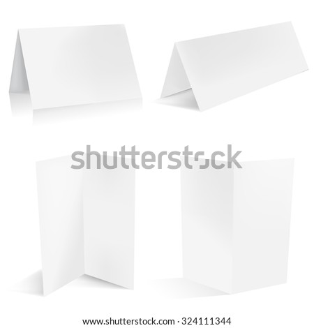Brochure template and paper table card - stock vector