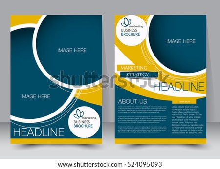 Brochure Template Business Flyer Annual Report Stock Vector ...