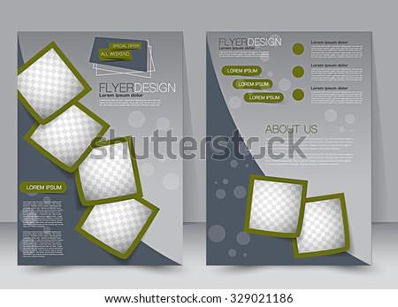 Brochure Template Business Flyer Editable A Stock Vector - Editable brochure templates