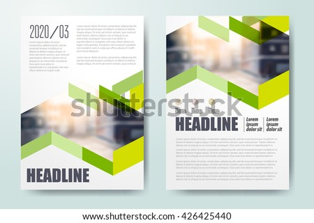 Brochure template design, book cover layout design, Abstract presentation templates Color application template design for corporate identity Business stationery Annual report - stock vector
