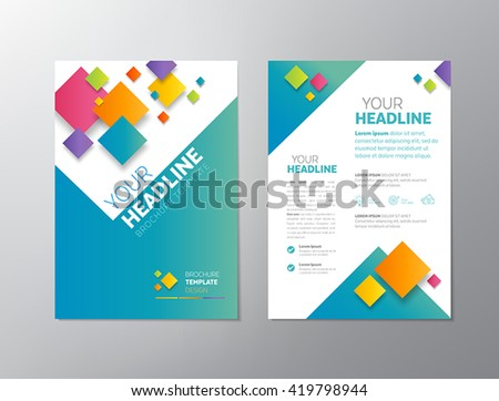 Brochure template design - can be used also as design for flyers, posters or any other printed or online graphic materials. - stock vector