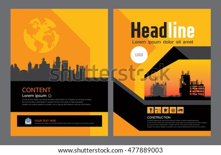 Brochure Template Design Concept Architecture Design Stock Vector Hd