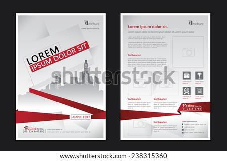 Brochure template design. Concept of architecture design. Vector illustration - stock vector