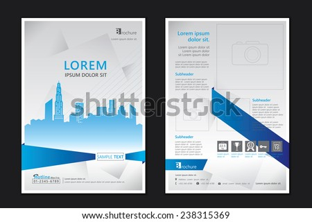 Brochure Template Design Concept Architecture Design Stock Vector