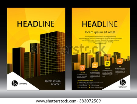 brochure template design concept of architecture design vector illustration