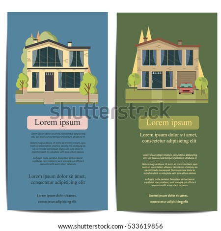 Brochure Template Design Concept Architecture Real Stock Vector