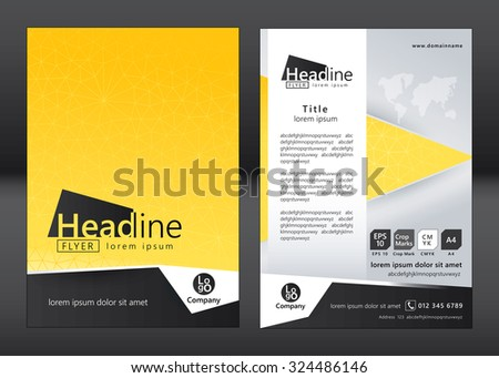Brochure Template Design Geometric Pattern Square Stock Photo Photo