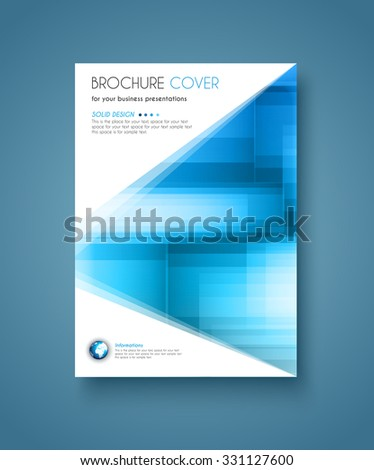 Brochure template, Flyer Design and Depliant Cover for business presentation and magazine covers. - stock vector