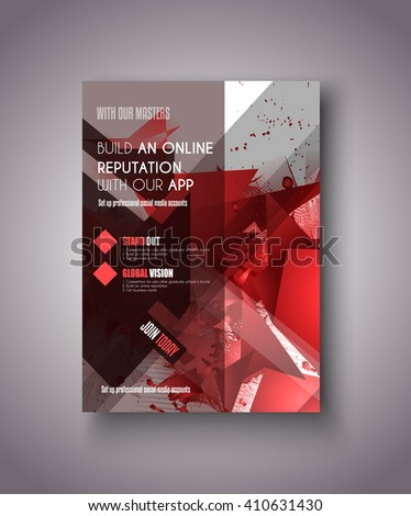 Brochure template, Flyer Design or Depliant Cover for business presentation and magazine covers, annual reports and marketing generic purposes. - stock vector
