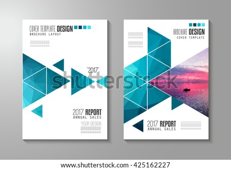 Brochure Template, Flyer Design Or Depliant Cover For Business Presentation  And Magazine Covers, Annual  Annual Reports Templates